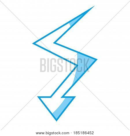 arrow with down direction, icon over white background. vector illustration