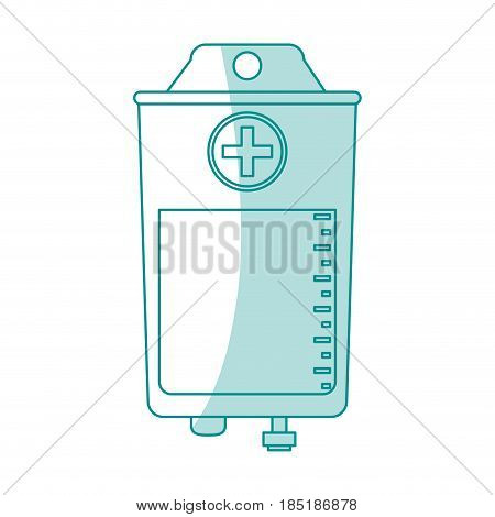 blue silhouette shading image bag for blood donation vector illustration