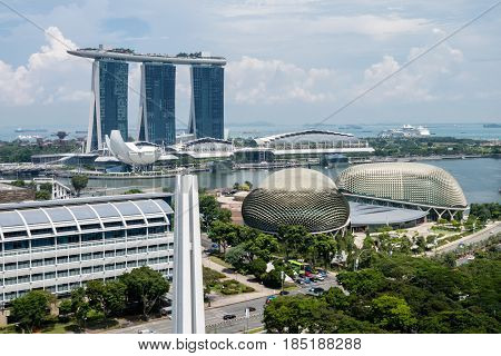 Singapore Downtown Esplanade Theatres on the Bay Marina Bay Sands Art Science Museum