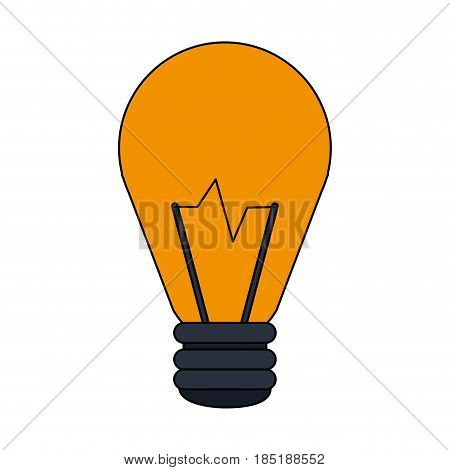 color image cartoon halogen light bulb vector illustration