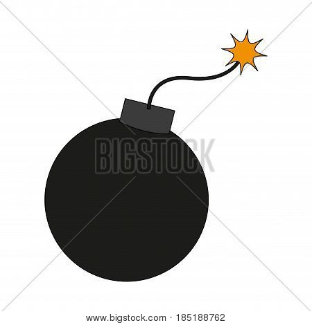 color image cartoon boom ready to explode vector illustration