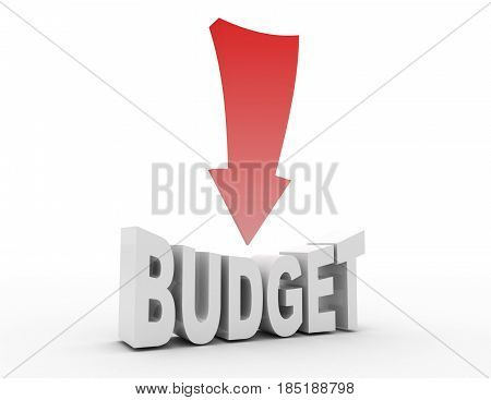 Budget Reduction Concept . 3D Rendered Illustration