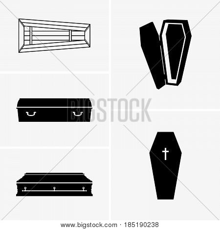 Set of five coffins ( shade pictures )