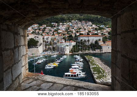 Boats In Dubrovnik's Old Harbour