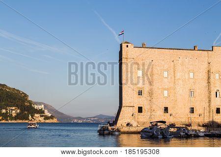 St John's Fortress Lit Up By Golden Sunlight