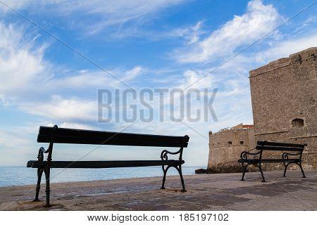Benches On Dubrovnik's Porporela