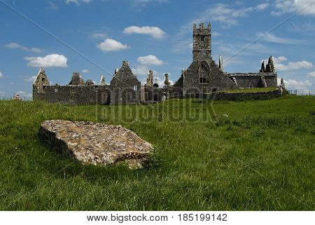 ruins of Friary of Ross in Ireland