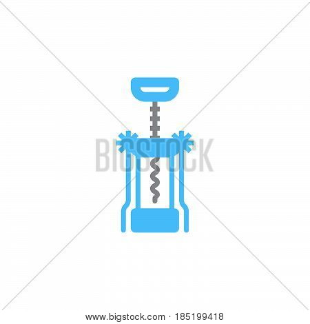 Corkscrew icon vector Bottle opener solid flat sign colorful pictogram isolated on white logo illustration