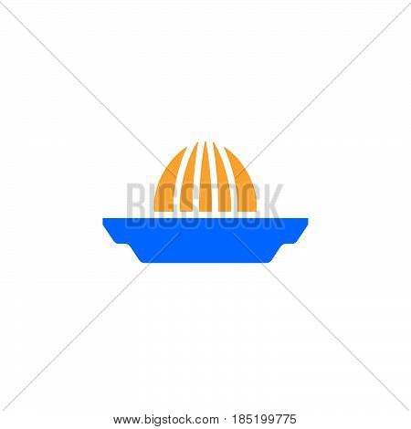 Citrus squeezer icon vector Juice Extractor solid flat sign colorful pictogram isolated on white logo illustration