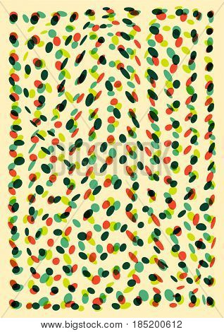 Multicolored misshapen dots abstract geometric background. Vector illustration.