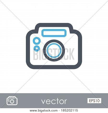 Photo Camera outline vector icon. Beach. Summer. Summertime. Vacation eps 10