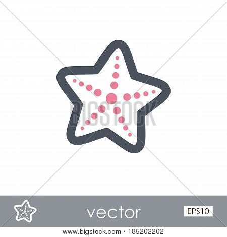 Starfish outline vector icon. Beach. Summer. Summertime. Vacation eps 10