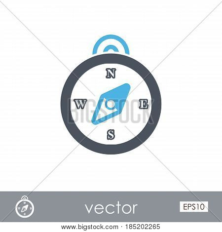 Compass outline vector icon. Beach. Summer. Marine. Summertime. Vacation eps 10