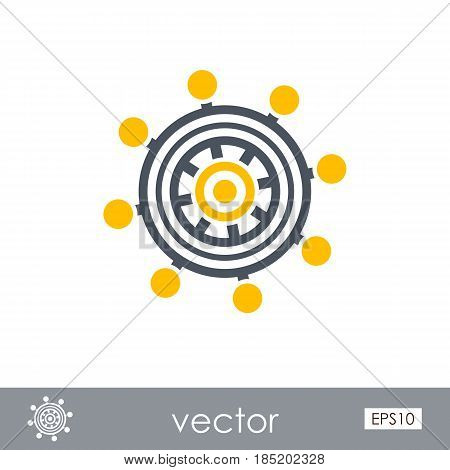 Helm outline vector icon. Beach. Summer. Marine. Summertime. Vacation eps 10