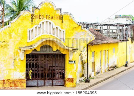 Viewn on abonded colonial bullfighting arena in Cartagena - Colombia