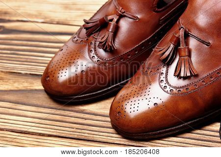 Leather Shoes Brogues Loafers Shoes Care.copy Space.