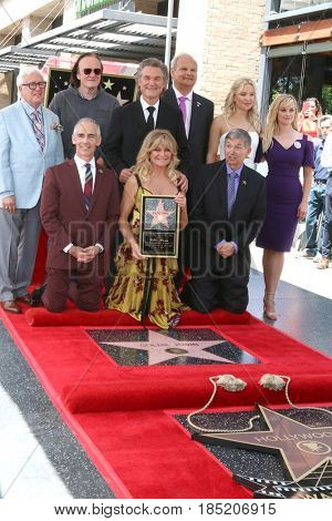 LOS ANGELES - MAY 4:  Goldie Hawn, Kurt Russell at the Kurt Russell and Goldie Hawn Star Ceremony on the Hollywood Walk of Fame on May 4, 2017 in Los Angeles, CA