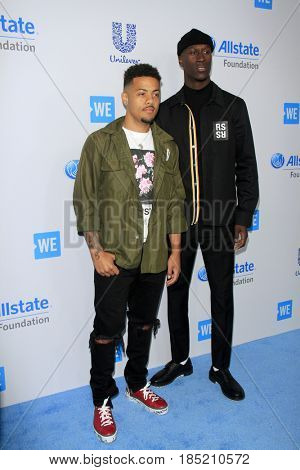 LOS ANGELES - APR 27:  Nico & Vinz at the We Day California 2017 at The Forum on April 27, 2017 in Inglewood, CA