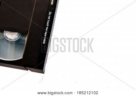 Od video cassette isolated on white background