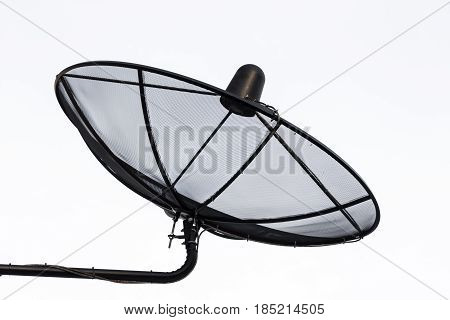 satellite dish with blue theme of world connecting technology use as multipurpose backgroundbackdrop