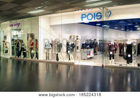 Interior Of Pois Fashion Clothes Store