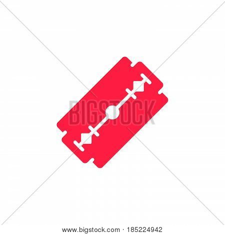 Razor Blade Icon Vector, Filled Flat Sign, Solid Colorful Pictogram Isolated On White, Logo Illustra