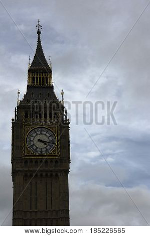 detail of the big ben in london
