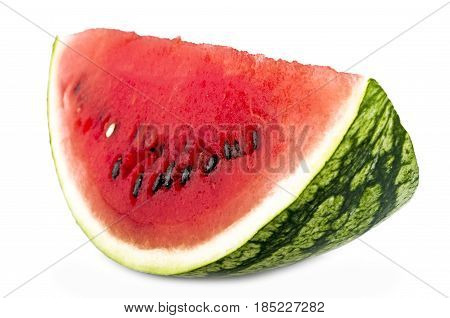 watermelon close up on the white background