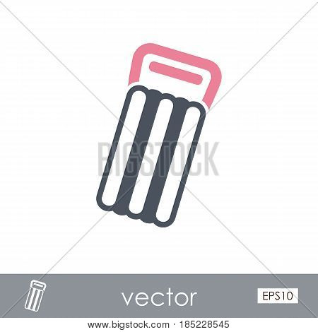 Floating mattress on beach outline vector icon. Beach. Summer. Summertime. Vacation eps 10