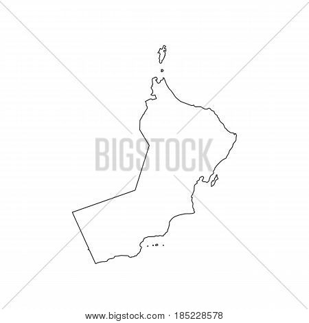 Oman map silhouette on the white background. Vector illustration