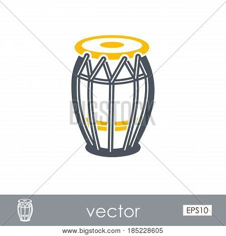 Drum outline vector icon. Beach. Summer. Summertime. Vacation eps 10