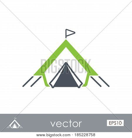 Tent outline vector icon. Beach. Summer. Summertime. Vacation eps 10