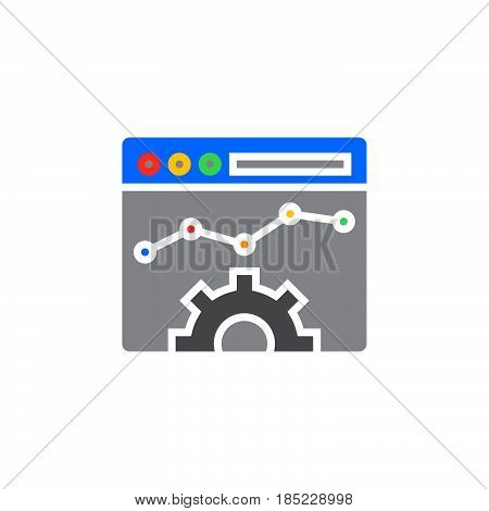 Website Optimisation Icon Vector, Filled Flat Sign, Solid Colorful Pictogram Isolated On White, Logo