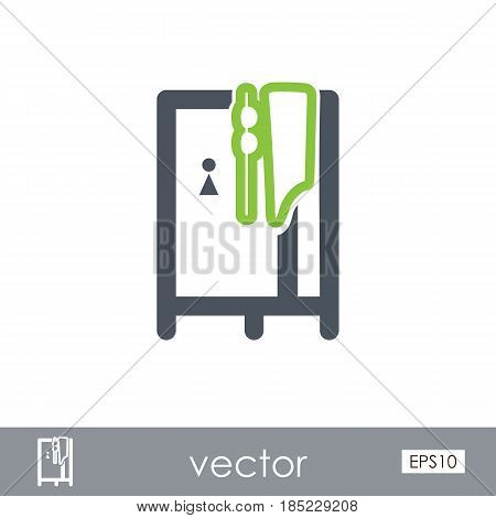Cloakroom on the beach outline vector icon. Beach. Summer. Summertime. Vacation eps 10