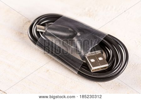 Brand New Unused Black Usb And Micro Usb Cable For Mobile Phones