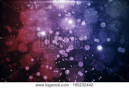 Abstract red background with white circles and spots. 3D Rendering