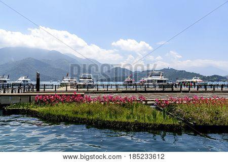 the beautiful Sun Moon Lake on Taiwan