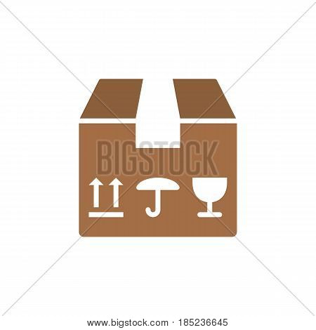 Fragile Package Icon Vector, Filled Flat Sign, Solid Colorful Pictogram Isolated On White, Logo Illu