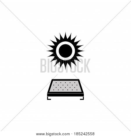 solar panel icon saving energy here solar energy ecology fully editable vector image
