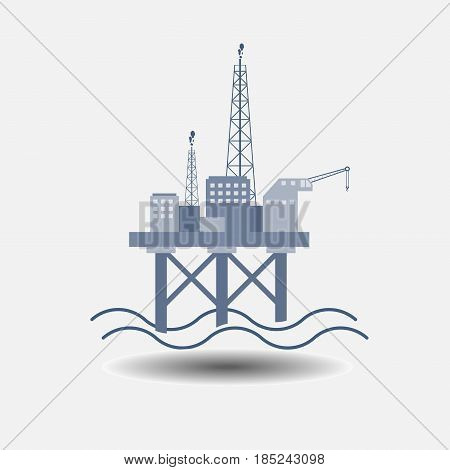 the Oil Platform icon symbol oil dobyra resources fully editable vector image