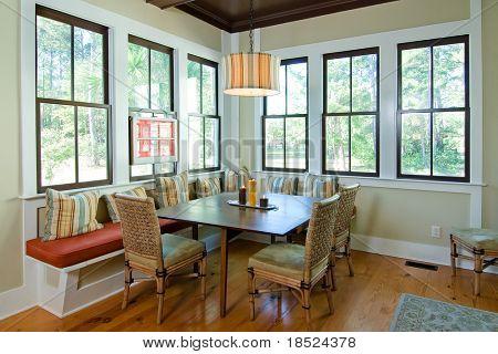 diningroom with view windows