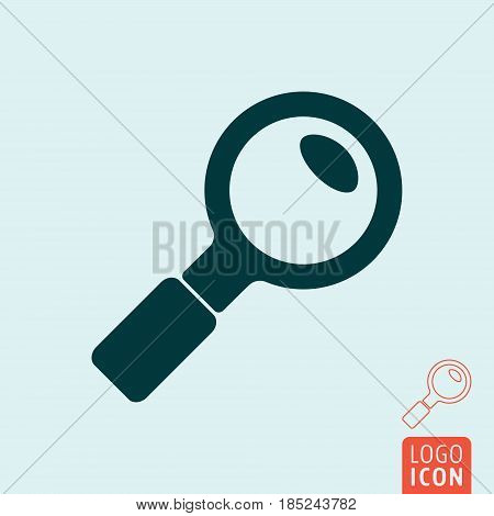 Search icon. Magnifying glass symbol. Vector illustration