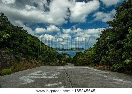 Road to the sea, Koh Phangan, Thailand