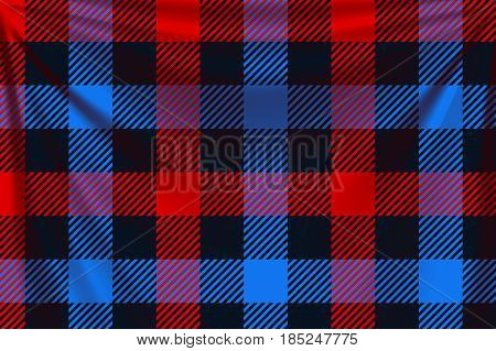 illustration of colorful squares textile background with creases