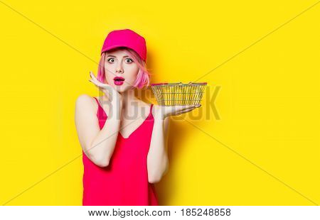 Surprised Young Woman With Shopping Bag
