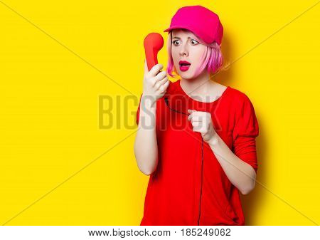 Young Woman With Handset