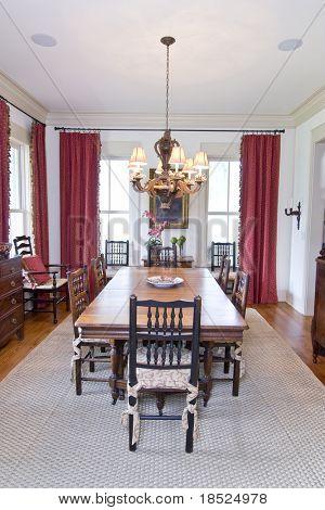 elegant diningroom well decorated