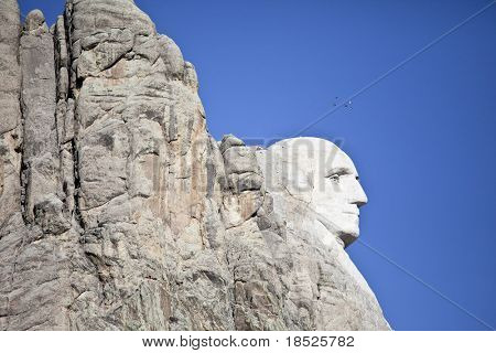 profile of mt rushmore, south dakota usa
