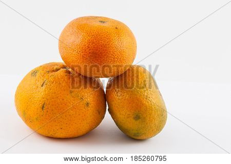 Mandarine (Citrus reticulata) isolated in white background