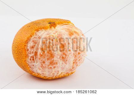 Mandarine (Citrus reticulata) isolated in white background